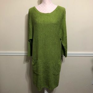 Soft Surroundings knitted green dress / tunic